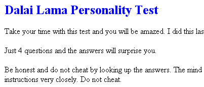 You will be amazed with this test